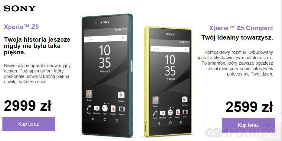 Sony Xperia Z5 i Sony Xperia Z5 Compact_2