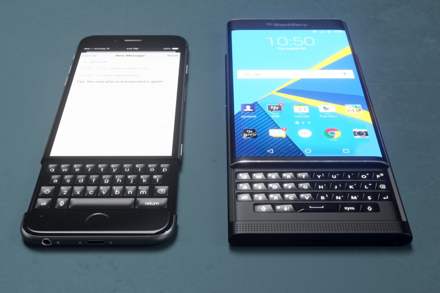 iPhone 6k i BlackBerry Priv / fot. Curved