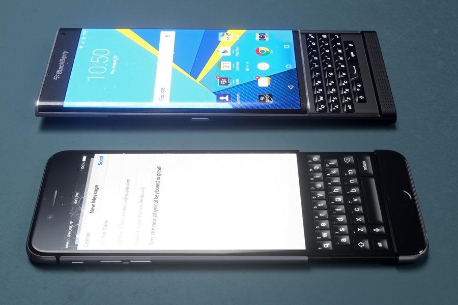 iPhone 6k i BlackBerry Priv / fot. Curved