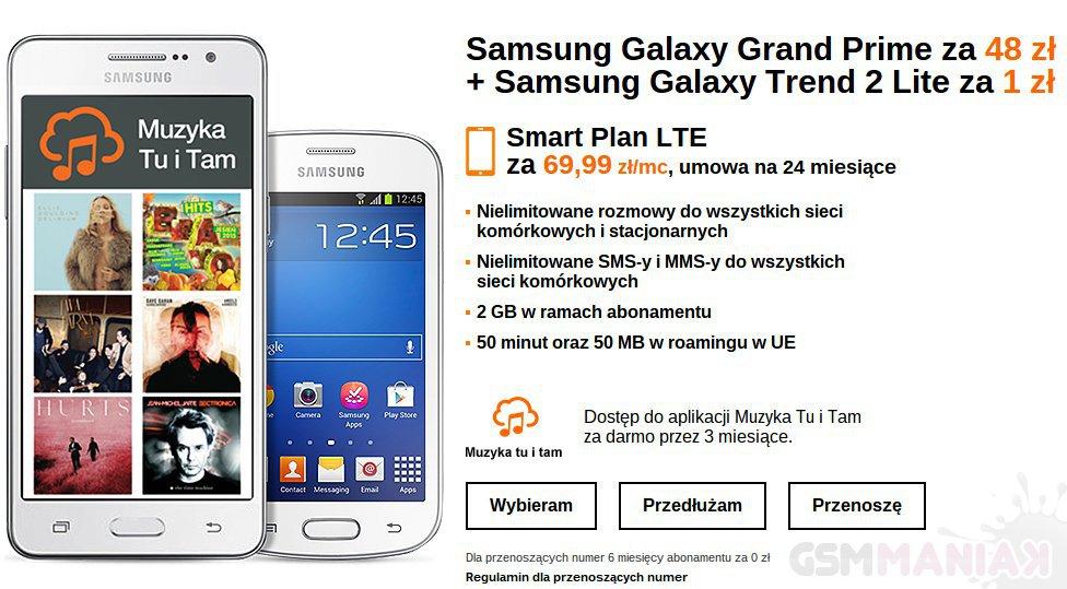 Galaxy Grand Prime oraz Galaxy Trend 2 _2