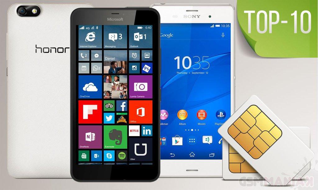 Top-10 (smartfony dual SIM) 2