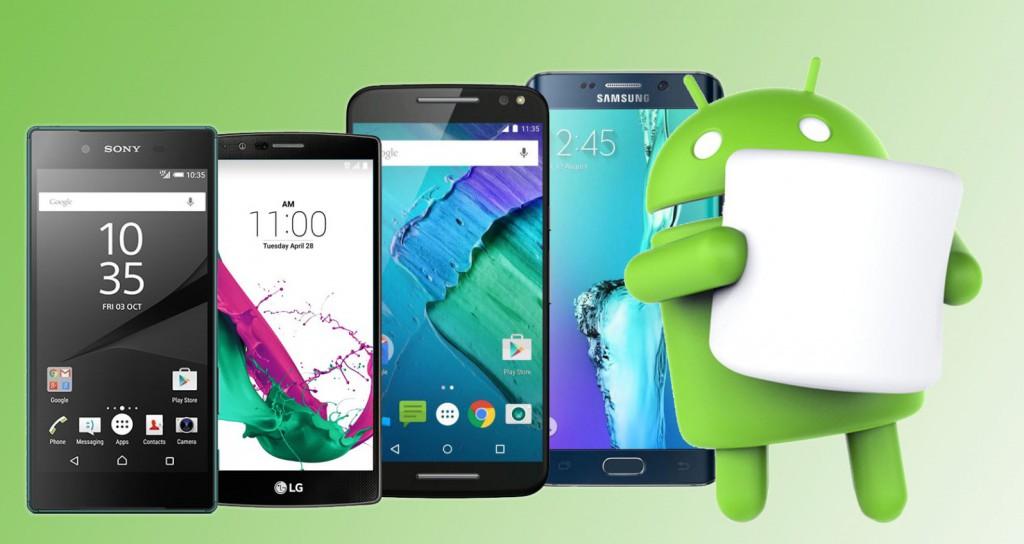 Smartfony z Android 6 Marshmallow