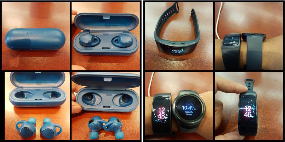 Samsung Gear Fit 2 i Gear IconX / fot. VentureBeat