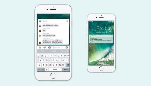Przeprojektowane powiadomienia w iOS 10 / fot. Apple