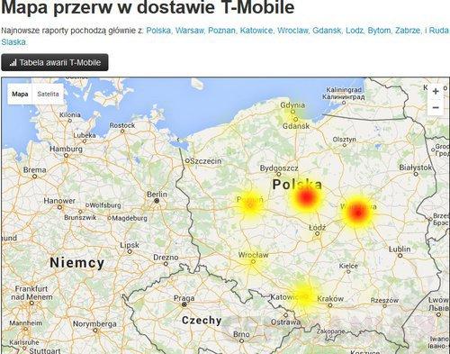 printscreen za stroną downdetector.pl