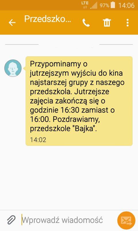 SMS-y o takiej treści są wysyłane do uczniów