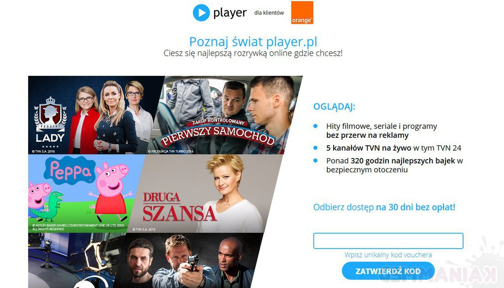 printscreen za stroną player.pl/orange
