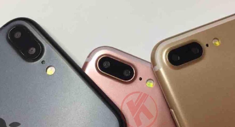 Czarny, różowy i złoty iPhone 7 Plus / fot. Weibo