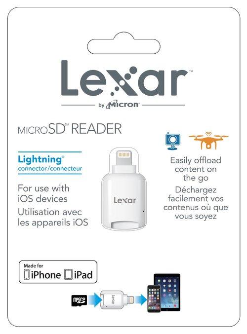 Czytnik Lexar microSD do urządzeń Apple