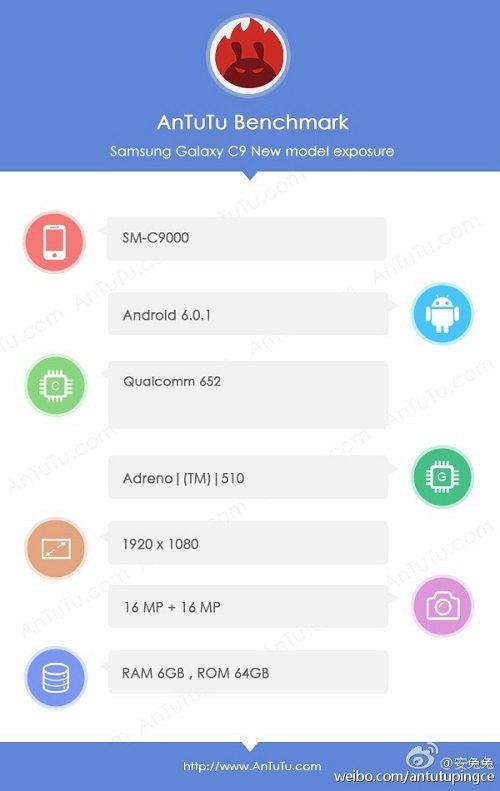 Samsung-Galaxy-C9-Specs-Antutu