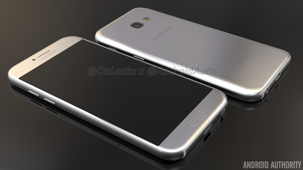 Samsung Galaxy A5 (2017) / Fot. Android Authority & OnLeaks