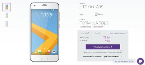 HTC One A9s w Play