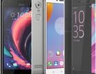HTC Desire 10 Lifestyle Lenovo K6 Nota Sony Xperia XA Ultra