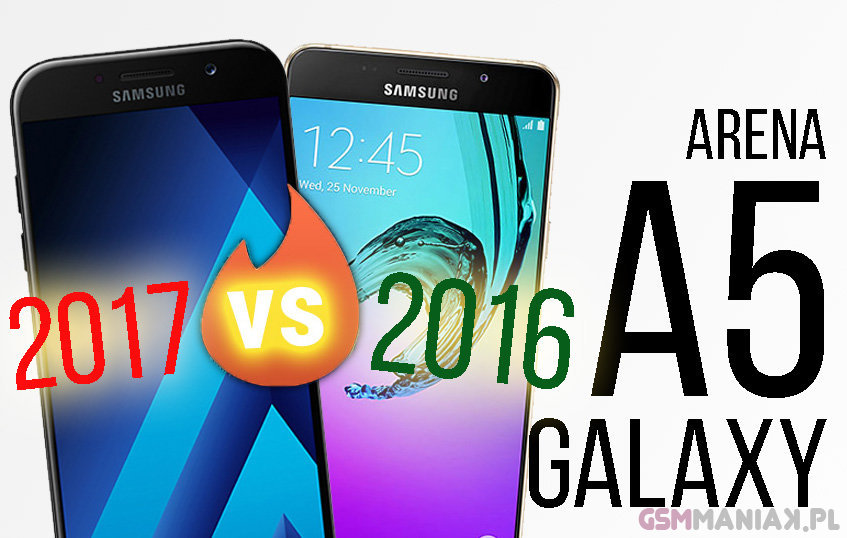 Samsung Galaxy A5 2017 vs 2016 h