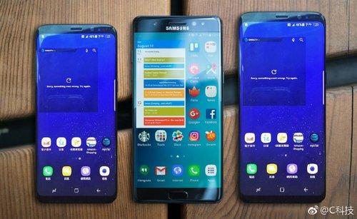 Galaxy S8, Galaxy Note 7 i Galaxy S8+ / fot. Weibo