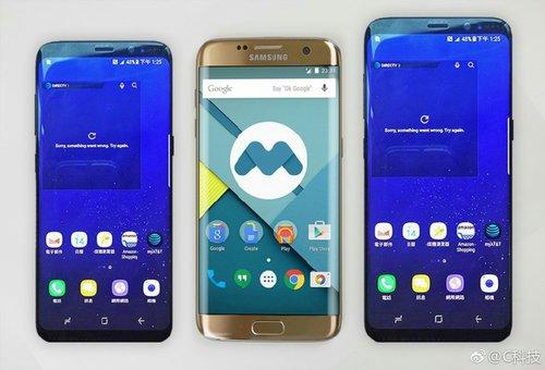 Galaxy S8, Galaxy S7 Edge i Galaxy S8+ / fot. Weibo