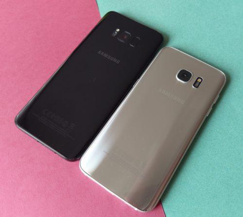 Samsung Galaxy S8+ i Samsung Galaxy S7 edge / fot. gsmManiaK.pl