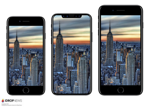 iPhone 7 vs. iPhone X vs. iPhone 7 Plus / fot. iDrop News