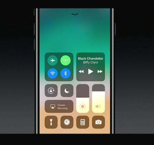 Nowe centrum kontroli w iOS 11 / fot. Apple