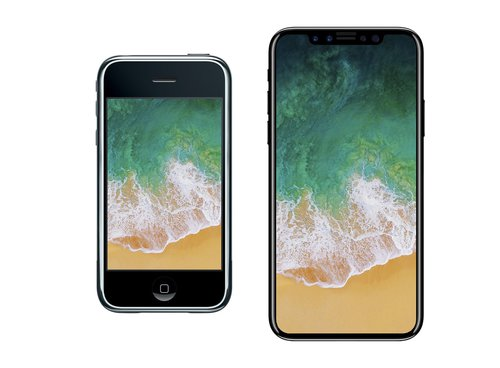 iPhone 2G vs. iPhone X / fot. VenyaGeskin1
