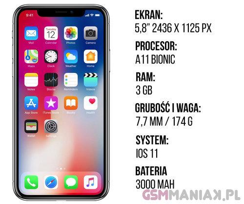 Specyfikacja Apple iPhone X