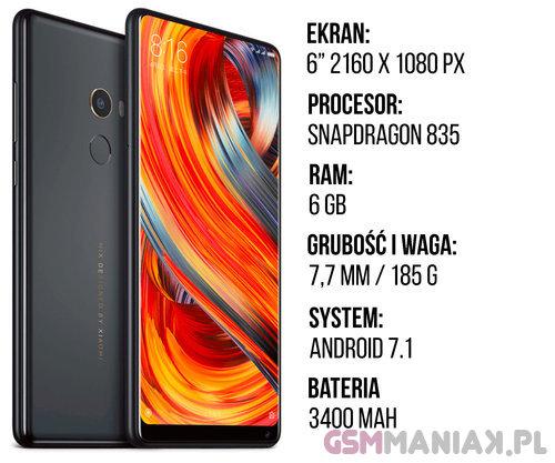 Specyfikacja Xiaomi Mi Mix 2