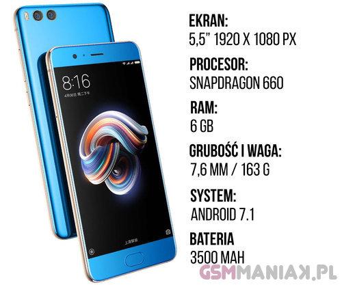 Specyfikacja Xiaomi Mi Note 3