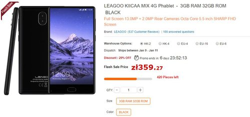 Leagoo Kiicaa Mix/ fot. Leagoo