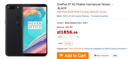 OnePlus 5T/ fot. GearBest