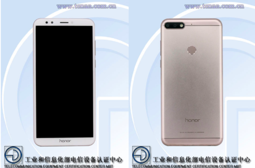 Honor 7C/ fot. TENAA