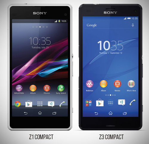 Sony Xperia Z1 Compact vs Z3 Compact