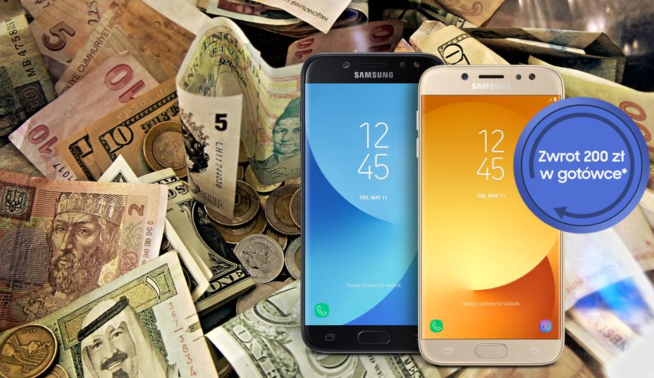 Kup nowy Galaxy J7 lub J5 i odbierz 200 z