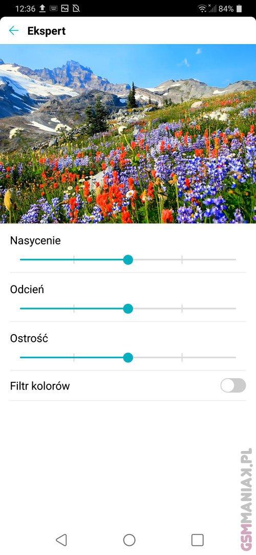 Zrzut ekranu z LG G7 ThinQ