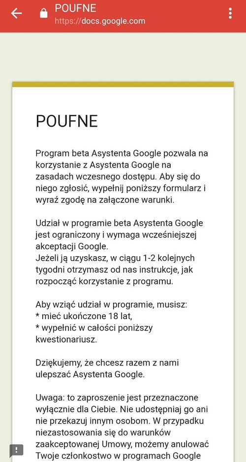 Fot. Asystent Google
