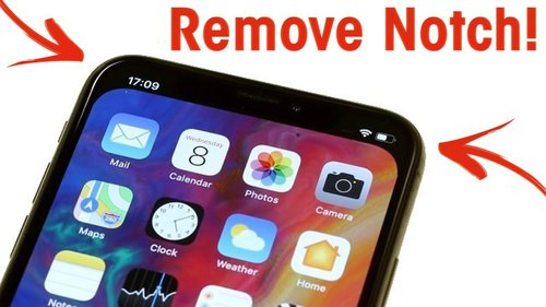 fot. iPhone X notch remover