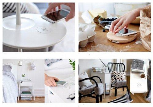 Meble z bezprzewodowym ładowaniem/ Fot. IKEA