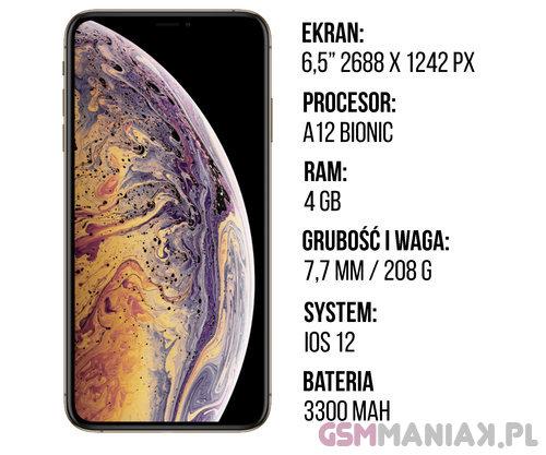 Specyfikacja iPhone Xs Max
