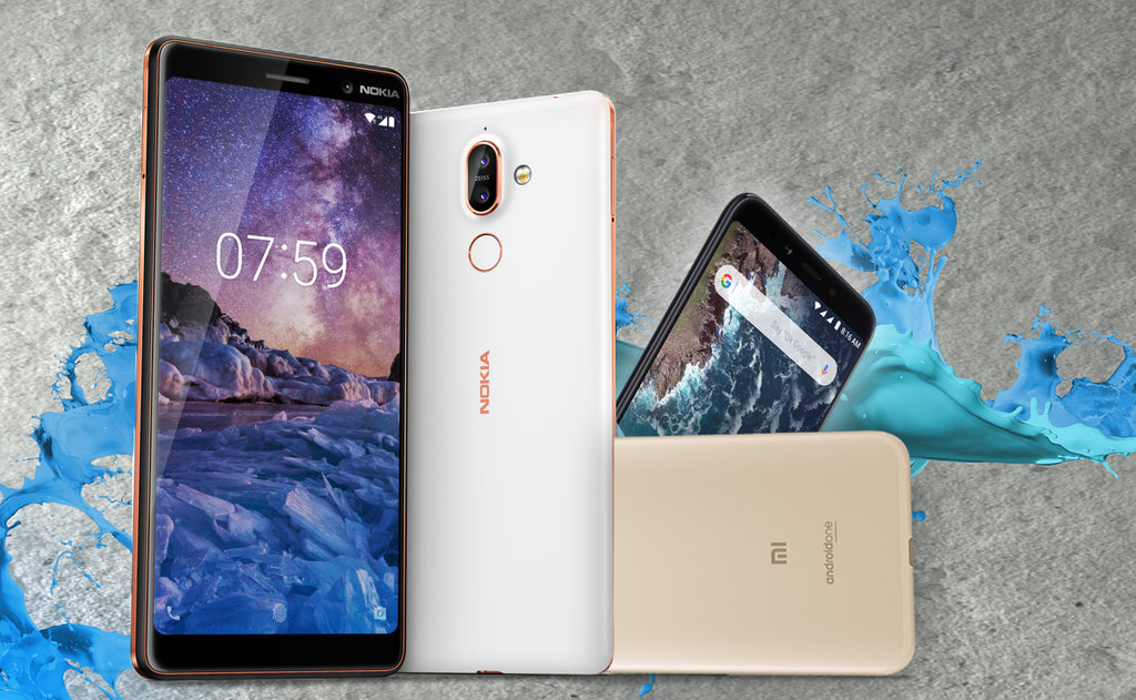Nokia 7 plus vs xiaomi mia2 p1