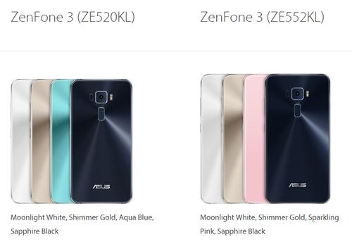 Porównanie modeli Zenfone 3