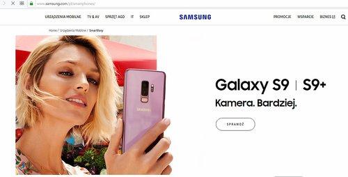 Anja Rubik na stronie Samsung Polska
