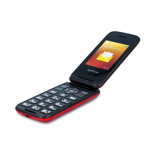 myphone_FLIP-4_czerwony_rozlozony
