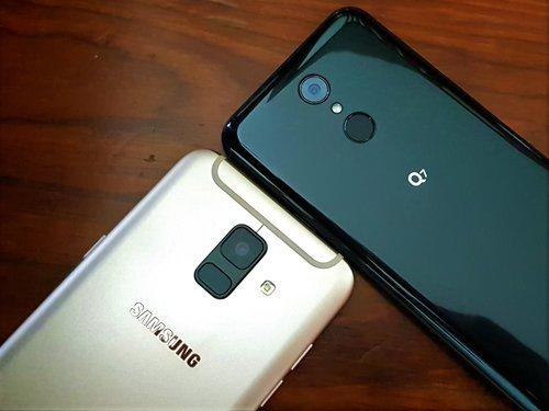 Samsung Galaxy A6 i  LG Q7_10