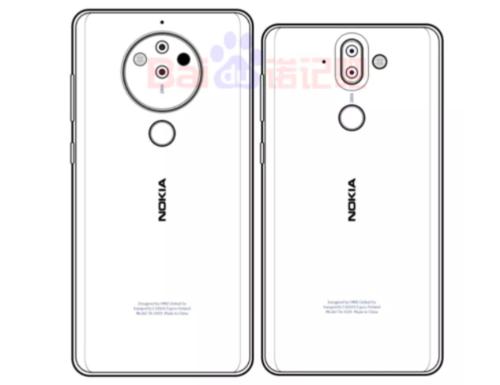 Tak może wyglądać nowy flagowiec Nokii )obok Nokia 8 Sirocco) / fot. Baidu