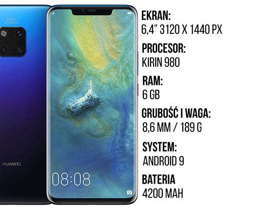 Specyfikacja Huawei Mate 20 Pro