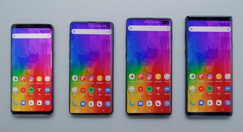Galaxy S9, S10, S10+ i Note 9 / fot. Marques Brownlee