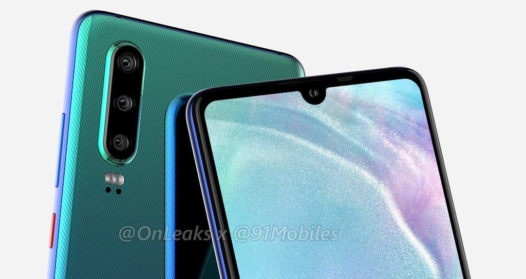 Huawei P30 / fot. 91mobiles & OnLeaks