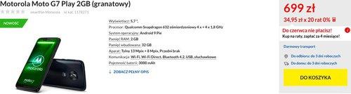 Moto G7 Play/fot. RTVeuroAGD