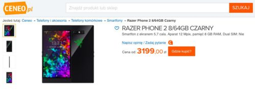 Razer Phone 2/fot. Ceneo