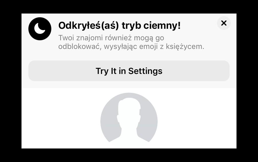 Tryb Ciemny Messenger 0