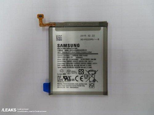Bateria Galaxy A20 / fot. Slashleaks